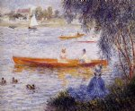 boat acrylic paintings - boating at argenteuil by pierre auguste renoir