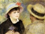 boating couple by pierre auguste renoir painting