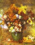 bouquet of chrysanthemums by pierre auguste renoir paintings