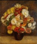 pierre auguste renoir bouquet of chrysanthemums i posters
