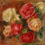 pierre auguste renoir bouquet of flowers painting