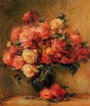 pierre auguste renoir bouquet of roses ii painting