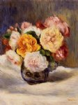 bouquet of roses by pierre auguste renoir painting