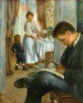 breakfast at berneval by pierre auguste renoir paintings