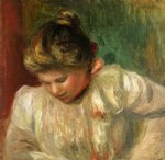 bust of a girl by pierre auguste renoir painting