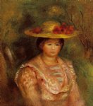 bust of a woman gabrielle by pierre auguste renoir painting