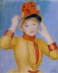 bust of a woman by pierre auguste renoir painting