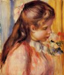 bust of a young girl by pierre auguste renoir painting