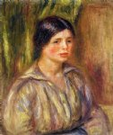 bust of a young woman ii by pierre auguste renoir painting