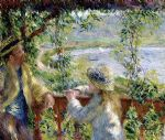 pierre auguste renoir by the water painting