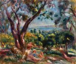pierre auguste renoir cagnes landscape with woman and child painting-26058