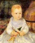 child with punch doll by pierre auguste renoir painting