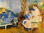 children art - children s afternoon at wargemont by pierre auguste renoir