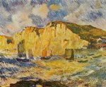 cliffs by pierre auguste renoir paintings