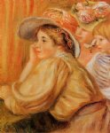 coco and two servants by pierre auguste renoir painting