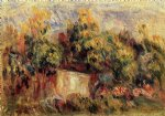 cottage near collettes by pierre auguste renoir painting