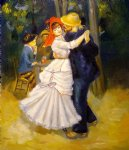 dance art - dance at bougival ii by pierre auguste renoir