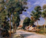 entering the village of essoyes by pierre auguste renoir painting