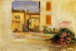 pierre auguste renoir farm courtyard midday painting-26689