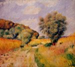 fields of wheat by pierre auguste renoir painting