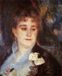 first portrait of madame georges charpeitier by pierre auguste renoir painting
