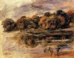 pierre auguste renoir fishermen by a lake painting
