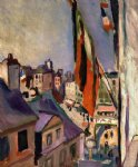 pierre auguste renoir flag decorated street painting