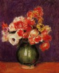 flowers in a vase iii by pierre auguste renoir paintings