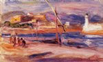 pierre auguste renoir fort carre et phare d antibes painting