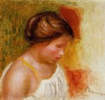 gabrielle in a chemise by pierre auguste renoir painting