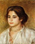 gabrielle wearing a necklace by pierre auguste renoir painting