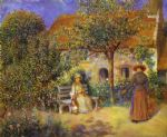 garden scene in britanny by pierre auguste renoir paintings