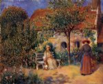 garden scene in brittany by pierre auguste renoir paintings