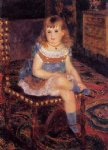 georgette charpentier seated by pierre auguste renoir painting