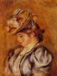 girl in a flowery hat by pierre auguste renoir paintings