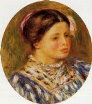 pierre auguste renoir girl in blue painting
