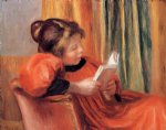 pierre auguste renoir girl reading painting
