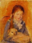 pierre auguste renoir girl with a dog painting