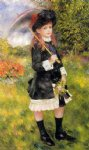 pierre auguste renoir girl with a parasol painting