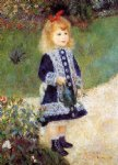 girl with a watering can by pierre auguste renoir painting