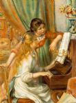 pierre auguste renoir girls at the piano art