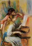 girls at the piano ii by pierre auguste renoir painting