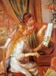 pierre auguste renoir girls at the piano paintings