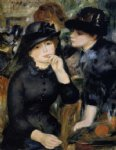 girls in black by pierre auguste renoir paintings