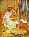 pierre auguste renoir guitar lesson prints