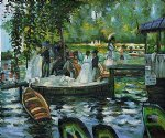 la grenouillere the frog pond by pierre auguste renoir painting