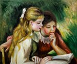 la lecture ii by pierre auguste renoir paintings
