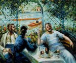 pierre auguste renoir lunch at the resturant fournaise the rowers lunch painting