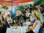 pierre auguste renoir luncheon of the boating party ii painting