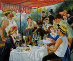 pierre auguste renoir luncheon of the boating party v painting